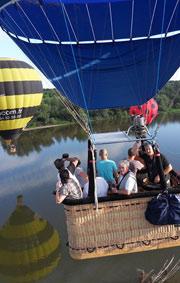 Le Vol en montgolfière