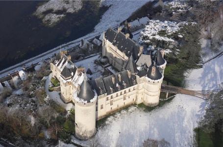 Les Châteaux de la Loire sous la neige