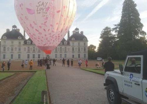 Vol au dessus des châteaux de la Loire