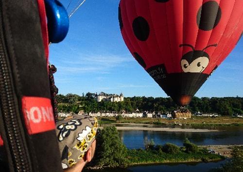 Vol en montgolfiere au dessus d'Amboise