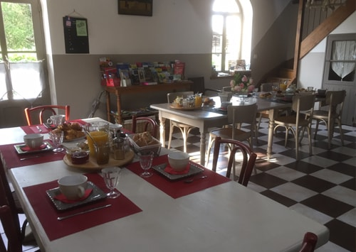 Petit déjeuner à Onzain, Chambre d'hôte L'Envol