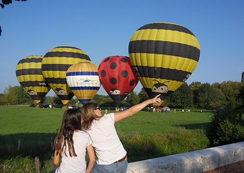 Vol en montgolfiere en groupe