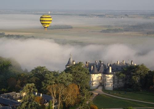 Brume en montgolfière